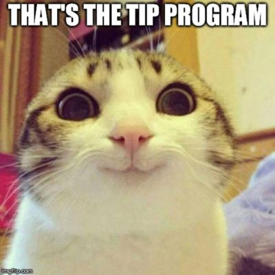 That's the tip program